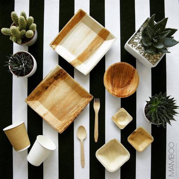 mamboo naczynia biodegradowalne liście palmowe ekologia